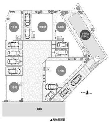 【区画図】池田市旭丘2丁目 新築戸建 6号地
