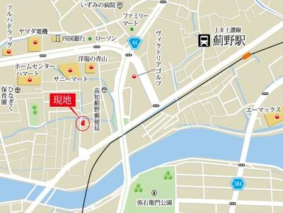 【地図】薊野西町2丁目 4LDK
