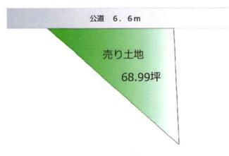 【区画図】高崎市箕郷町生原 売地