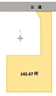 【区画図】高崎市八幡町 売地