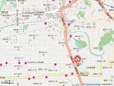 【地図】フェニックス東石井・