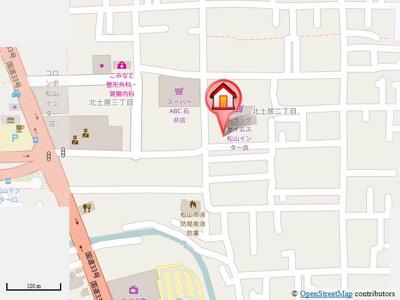 【地図】越智ハイツ
