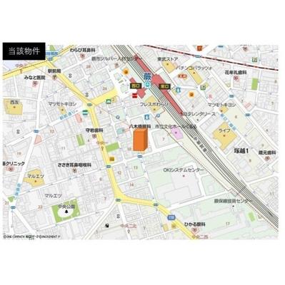 【地図】D'affitto蕨中央