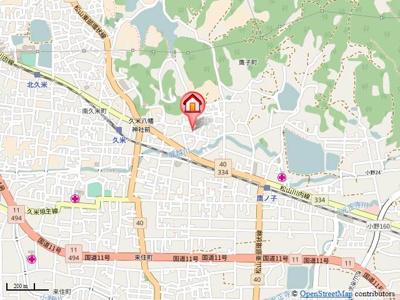 【地図】仙波ハウス・