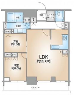 3LDKを2LDKへ新築時に変更しているためリビングが広く感じます。3LDKへ戻すことも可能です(別途費用要)