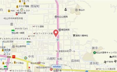 【地図】サンアイハイツ