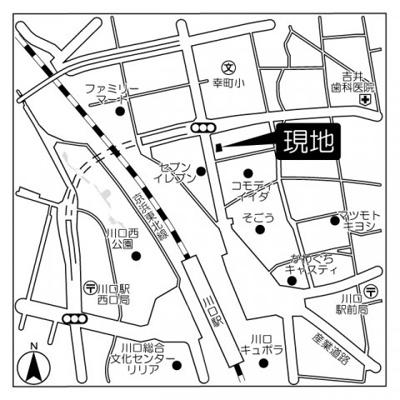 【地図】アクシーズタワー川口栄町Ⅰ