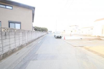 前面道路(南東側より撮影)