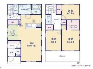 笠松町長池 新築建売 価格2180万円 お車スペース4台可能! ゆったり18.75帖のリビングに畳コーナー3帖!