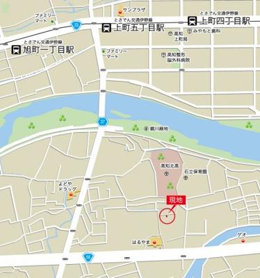 【地図】東城山町 4LDK