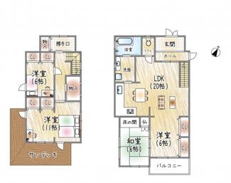 ◆阪急「雲雀丘花屋敷」徒歩2分◆雲雀丘1丁目♪