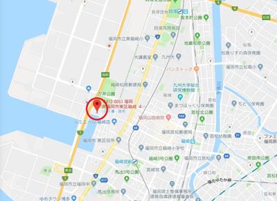 【地図】アーク箱崎