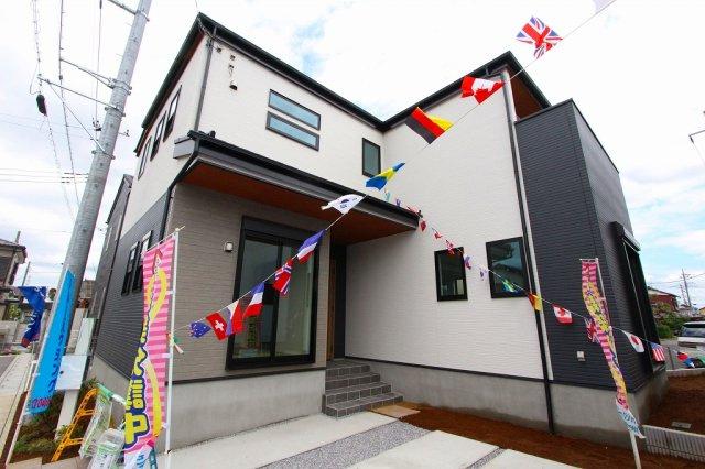 外観です:建物完成しました♪毎週末オープンハウス開催♪三郷新築ナビで検索♪