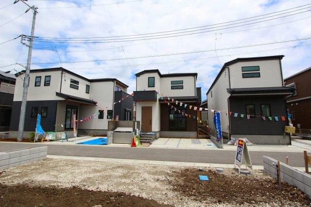 1~3号棟全体写真です:三郷新築ナビで検索♪