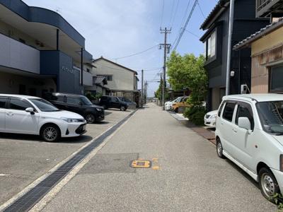 【前面道路含む現地写真】諸江町下丁土地