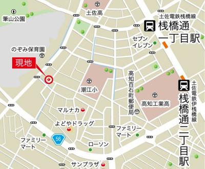 【地図】高知市塩屋崎町