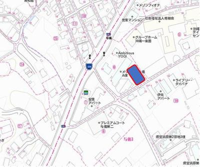 【地図】メゾンS&K与儀 B棟