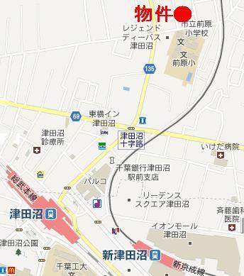 【地図】カーサクロヤナギ