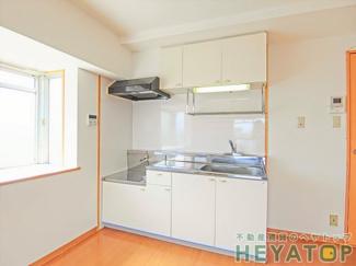 ガスコンロが置けるキッチンで楽しくお料理(同仕様写真)