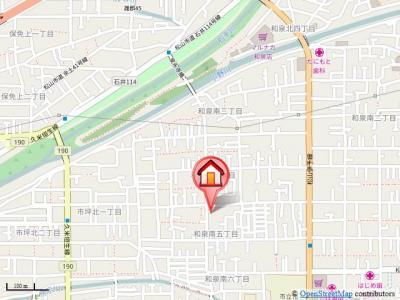 【地図】ディアス和泉