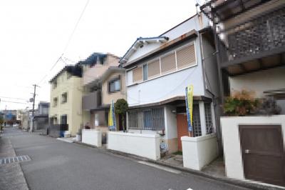 【前面道路含む現地写真】堺市堺区向陵東町 土地 新築