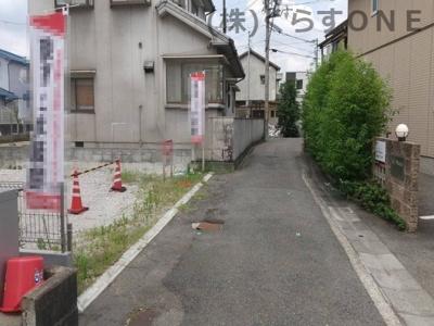 【前面道路含む現地写真】姫路市車崎2丁目/売土地