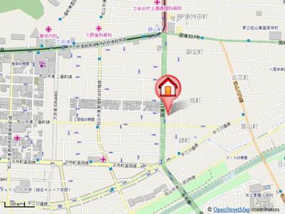 【地図】勝山町バートン