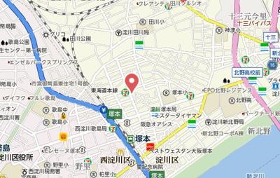 【地図】レクエルド塚本