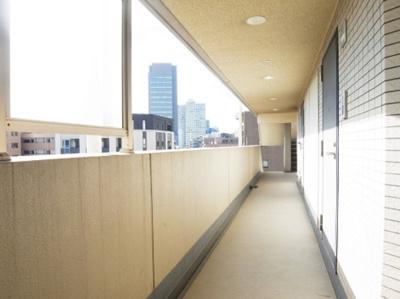 メゾン・ド・ヴィレ日本橋中洲の共用廊下です。