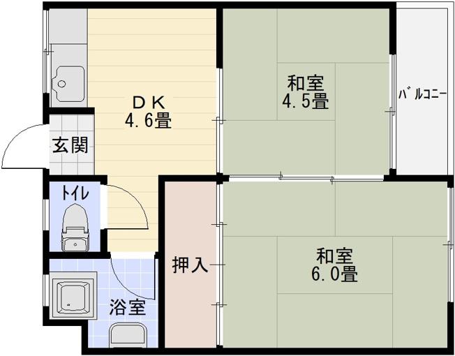 ウエストハイツ(河内国分駅) 2DK