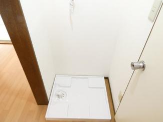 洗濯機はこちらに置けます