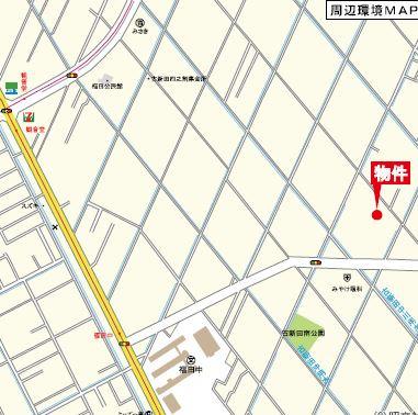 【地図】リーブルガーデン倉敷・福田町古新田第8 3号棟