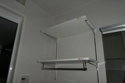 洗濯機置き場 棚