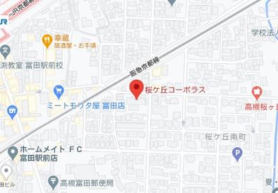 【地図】桜ヶ丘コーポラス (株)Roots