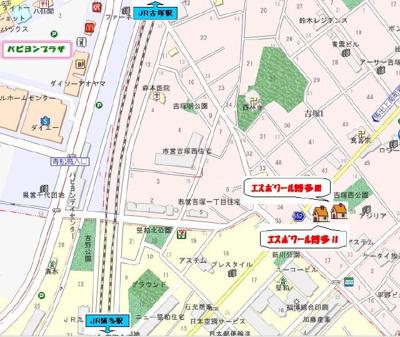 【地図】エスポワール博多Ⅱ