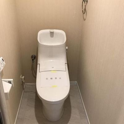 温水洗浄便座付きのトイレです。