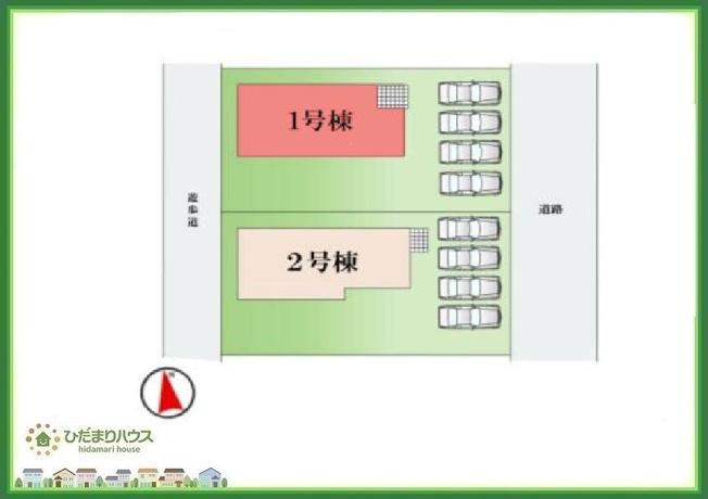 急な来客時にも安心な、並列駐車4台まで可能です(^^♪