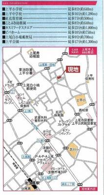 【地図】GRAFARE 上尾市上 新築分譲住宅 全10棟