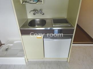 ミニ冷蔵庫付きキッチン(現況と異なる場合は、現況を優先します。)