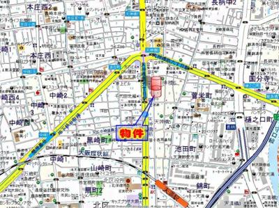【地図】アバンダンス天神橋