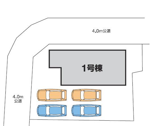 【区画図】高崎市上小鳥町 1号棟