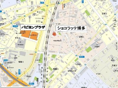 【地図】ショコラッテ博多