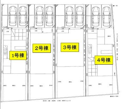 【区画図】リーブルガーデン倉敷市連島5丁目 4号棟
