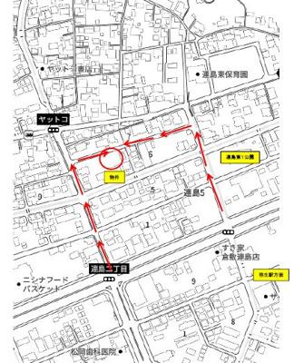 【地図】リーブルガーデン倉敷市連島5丁目 4号棟