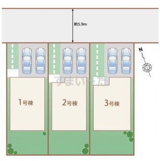 【区画図】沼津市原町中 第14期 新築戸建 2号棟