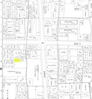 【地図】枝松月極駐車場