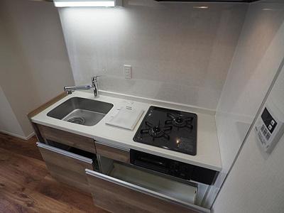2口コンロが使いやすいキッチンです。
