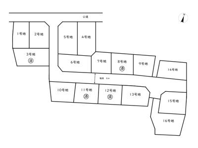 【区画図】姫路市青山3丁目/16区画