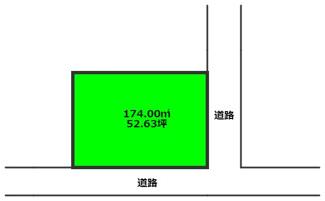 角地につき陽当たり良好♪ 駐車場も2台以上確保できる土地となっています。