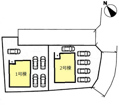 【区画図】クレイドルガーデン 山口市吉敷佐畑 第1(1号棟)